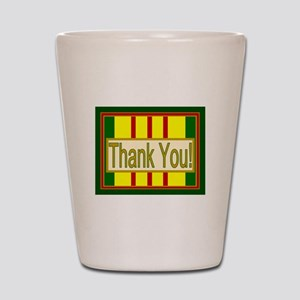 Vietnam Veteran Thank You Shot Glass