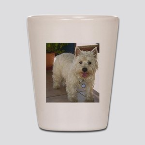 west highland white terrier full Shot Glass