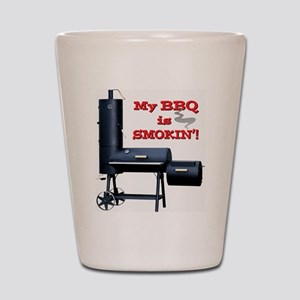 My BBQ is Smokin'! Shot Glass