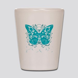 PCOS-Butterfly-BLK Shot Glass