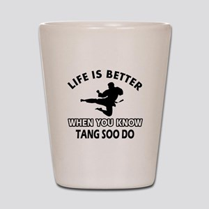 Tang Soo Do Vector designs Shot Glass