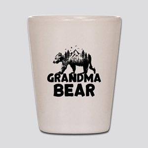 Grandma Bear Woods Shot Glass