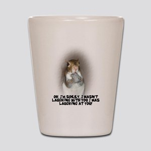 Laughing Squirrel Shot Glass