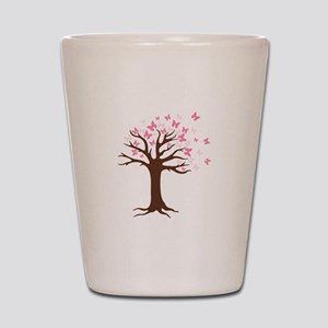Butterfly Hope Tree Shot Glass