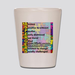 aspergers traits 3 copy Shot Glass
