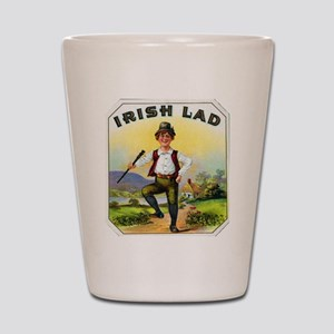 Irish Lad Cigar Label Shot Glass