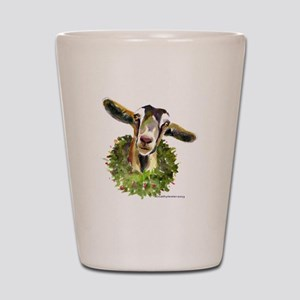 Christmas Goat Shot Glass