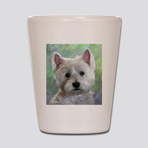 PORTRAIT OF A WESTIE Shot Glass