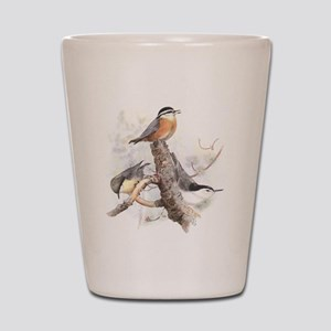 Nuthatches Shot Glass