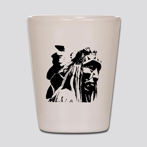 Native American Chief Art Shot Glass