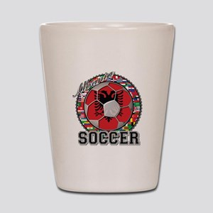 Albania Flag World Cup Soccer Ball Shot Glass
