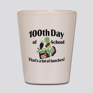 100th Day Lunches Shot Glass
