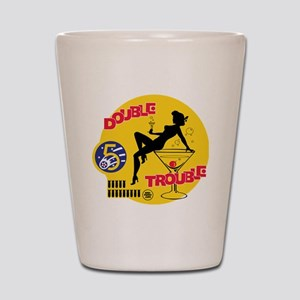 Double Trouble Pin Up Nose Art Shot Glass