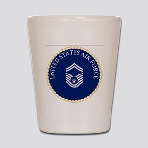 USAFSeniorMasterSergeantCapCrest Shot Glass