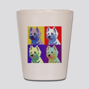 Westie a la Warhol! Shot Glass