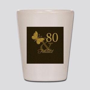 80th Birthday Butterfly Shot Glass