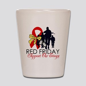 SupportRedFridays23 Shot Glass