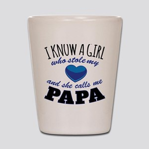 She Calls Me Papa Shot Glass
