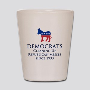 Democrats Cleaning Shot Glass
