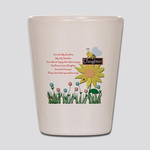 You Are My Sunshine Daughter Shot Glass