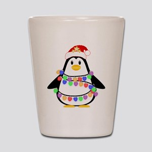 Christmas Penguin Shot Glass