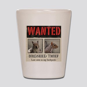squirrel wanted poster Shot Glass