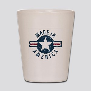 Made in USA-blue Shot Glass
