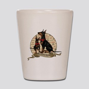The Gentleman's Terrier by Molly Yang Shot Glass