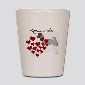 Love-Is-An-Akita-Valentine Shot Glass