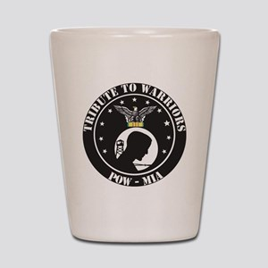 TRIBUTE TO WARRIORS RUN POW MIA Shot Glass