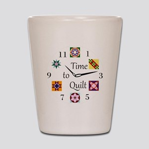 Time to Quilt Clock Shot Glass