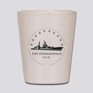 USS Indianapolis Image Round Shot Glass