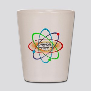 Big Bang Theory God Created the World Shot Glass