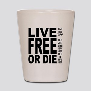 LiveFreeorDieBlack Shot Glass