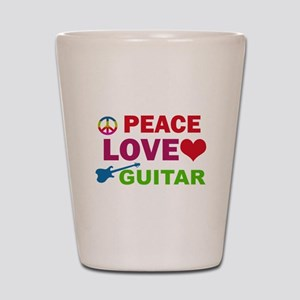Peace Love Guitar Shot Glass