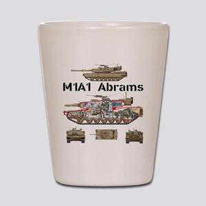 M1A1 Abrams MBT Cutaway Shot Glass