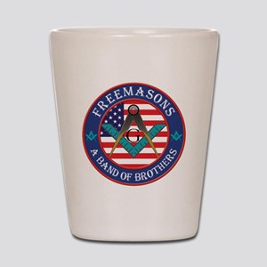 Band Of Brother Masons Shot Glass