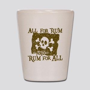 All For Rum Shot Glass