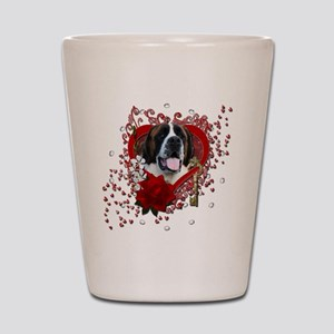Valentine_Red_Rose_Saint_Bernard_Mae Shot Glass