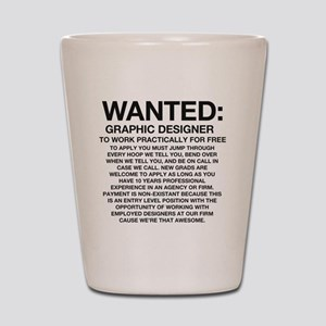 Wanted_Tee Shot Glass