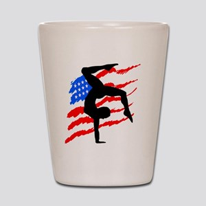 USA GYMNAST Shot Glass