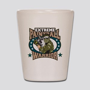 Extreme Paintball Warrior Shot Glass