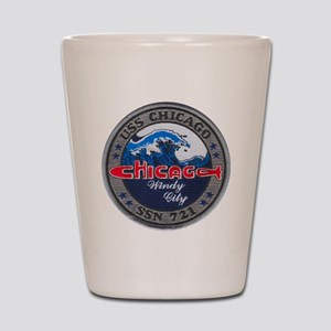 chicago patch Shot Glass