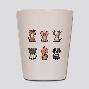 farm animal set Shot Glass