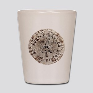 Appalachian Trail Survey Marker Shot Glass