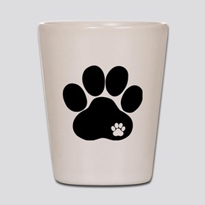 Double Paw Print Shot Glass