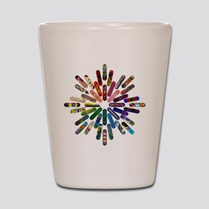 Skateboard Art Mandala Shot Glass