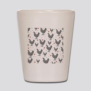 showercurtain-chickens-2 Shot Glass