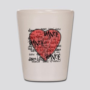 funky dance with heart best dance shirt Shot Glass