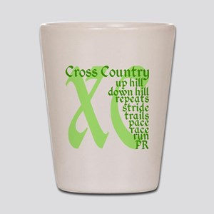 Cross Country XC green Shot Glass